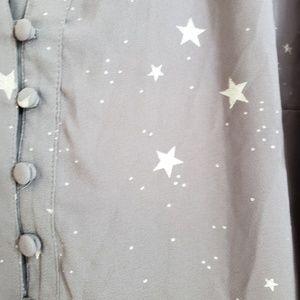 torrid Tops - Torrid Georgette Star Print Blouse 00X